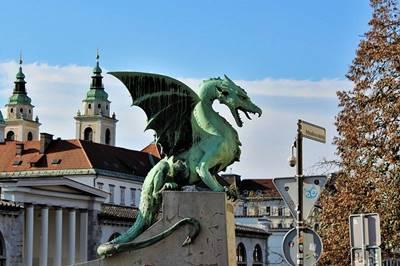 Dragon bridge, Ljubljana, Slovenia
